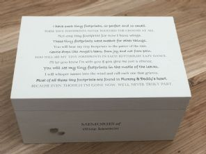Personalised LARGE Memory Box Baby Still Birth Miscarriage Any Name Shabby Chic - 253463455979